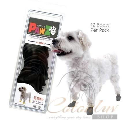 PawZ Dog Schuhe XXS Black 3,8cm Rubber Boots